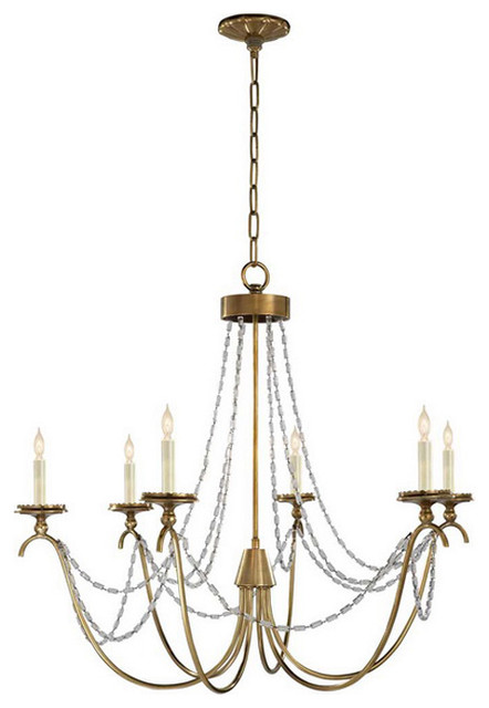 Marigot Six-Light Chandelier with Seeded Glass Beads traditional chandeliers