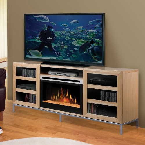 Dimplex Windsor Entertainment Center Electric Fireplace with Glass Ember Bed - Contemporary ...