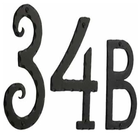 Smedbo rustic house numbers letters wrought iron