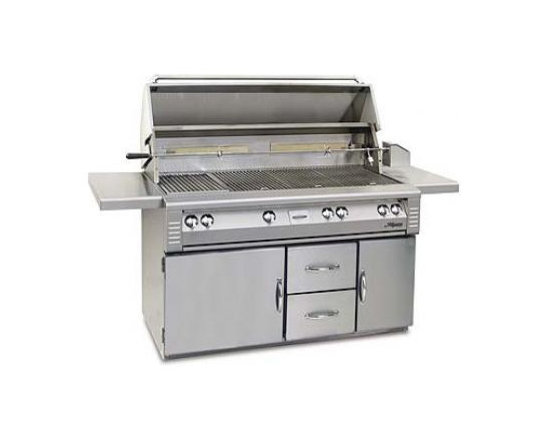 "Alfresco 56"" Built-in Jumbo Grill, Stainless Steel Natural Gas 