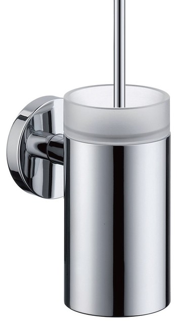 Hansgrohe-40522000 E and S Accessories Toilet Brush with Holder in Chrome traditional-toilet-accessories