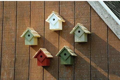 Summer Home Multi Birdhouse eclectic-birdhouses