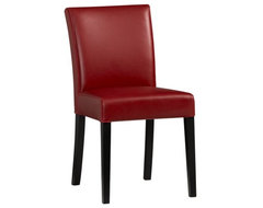 Lowe Red Side Chair | Crate&Barrel contemporary dining chairs and benches