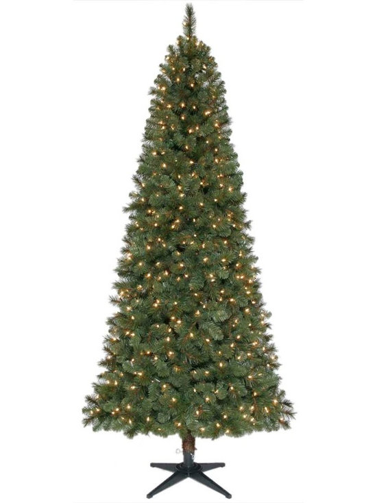 Home Accents Holiday 7.5 Feet Fraser Fir Slim Pre-Lit Artificial Tree -
