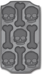 Skull & Crossbones Ice Cube Tray eclectic-ice-trays-and-molds