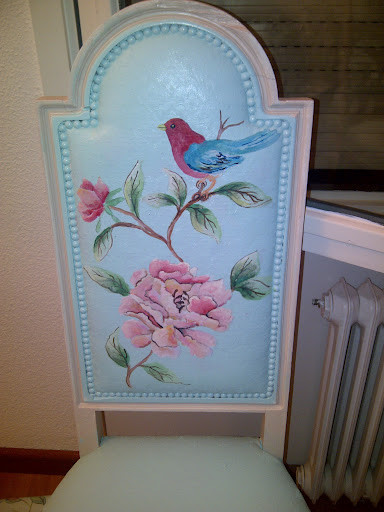 Hand painted vintage furniture contemporary