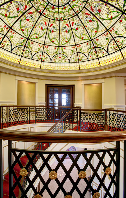 Leaded Glass Dome 22'dia. traditional