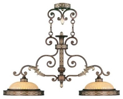 Livex Seville 8522-64 Island Light - Palatial Bronze finish with Gilded Accents modern-ceiling-lighting