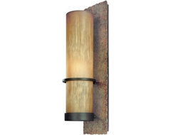 Bamboo Tall Wall Sconce contemporary wall sconces