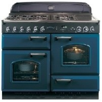 Rangemaster 78010 Classic, Blue Chrome Trim traditional-gas-ranges-and-electric-ranges