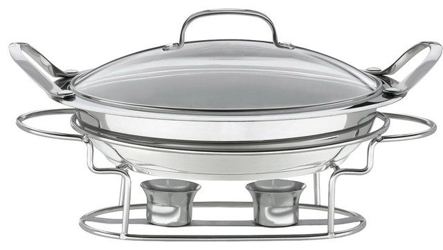 Cuisinart Stainless Steel Round 3-Quart Buffet Server contemporary-chafing-dishes