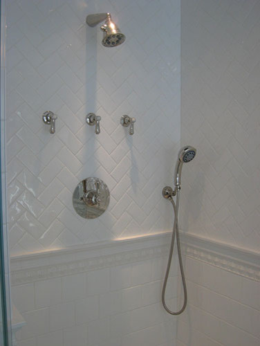 White Ceramic Shower - Traditional - Bathroom - new york ...