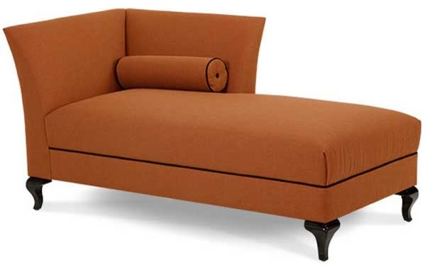 AICO After Eight Black Onyx Tangerine Left-Arm Chaise contemporary-indoor-chaise-lounge-chairs
