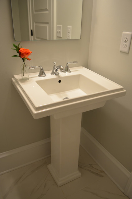 Powder Room Pedestal Sink - Traditional - Bathroom Sinks ...