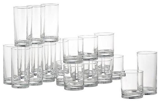 24-Piece Province Barware Set modern-everyday-glasses
