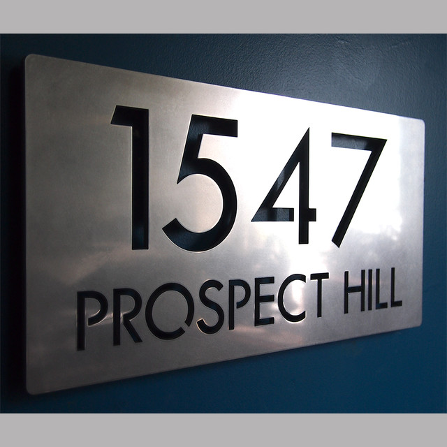 Address Plaques - Contemporary - House Numbers - indianapolis - by ...