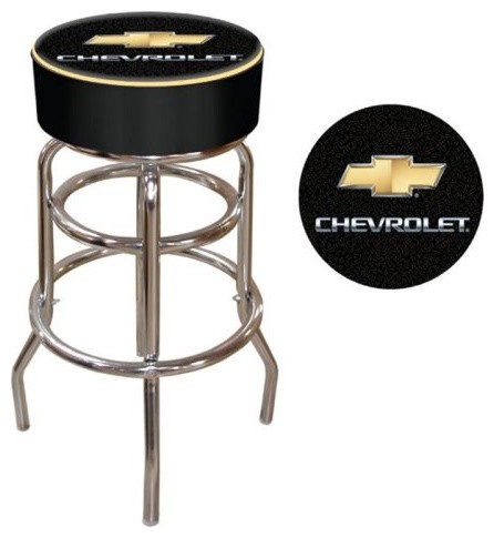 The Chevy Padded Backless Swivel Bar Stool is perfect for mechanics&#44; collect eclectic bar stools and counter stools