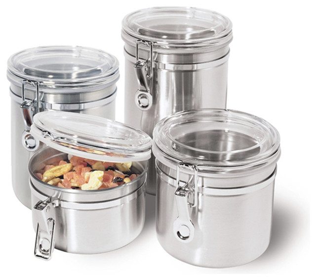 Stainless Steel Kitchen Storage Container - Kitchen Canisters And Jars - other metro - by ...
