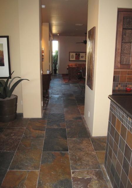 Stone Pewter Tile mediterranean-floor-tiles