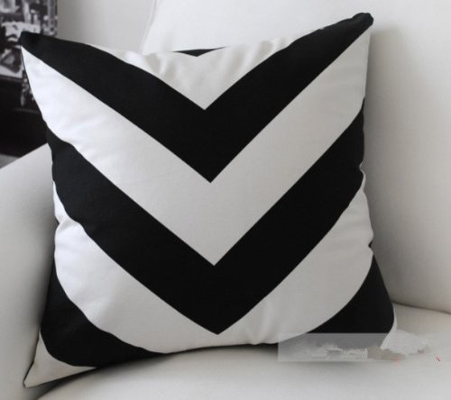 White Amp Black Zigzag Stripe Modern Art Decorative Pillow