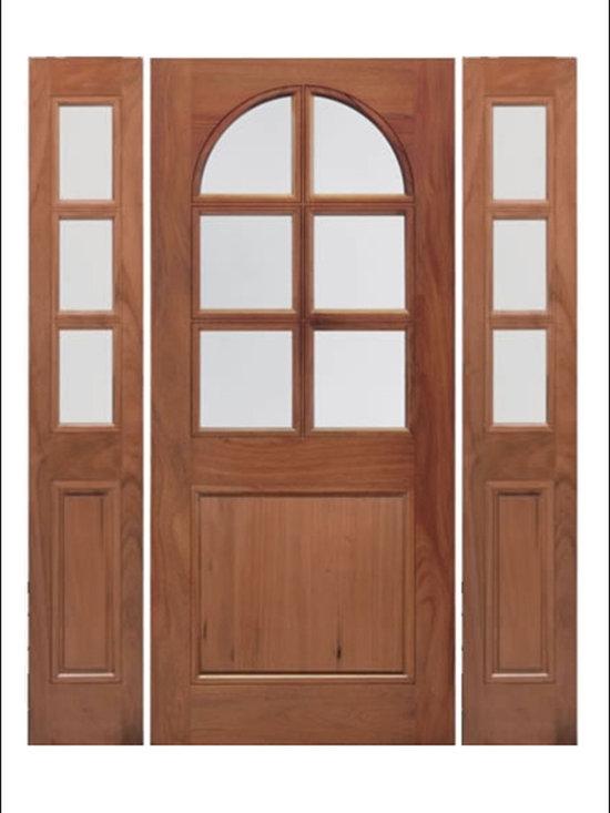 Walnut Entry Door Model # A75G -