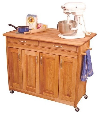 Super Island With Drop Leaf Traditional Kitchen Islands And Kitchen Carts By Target