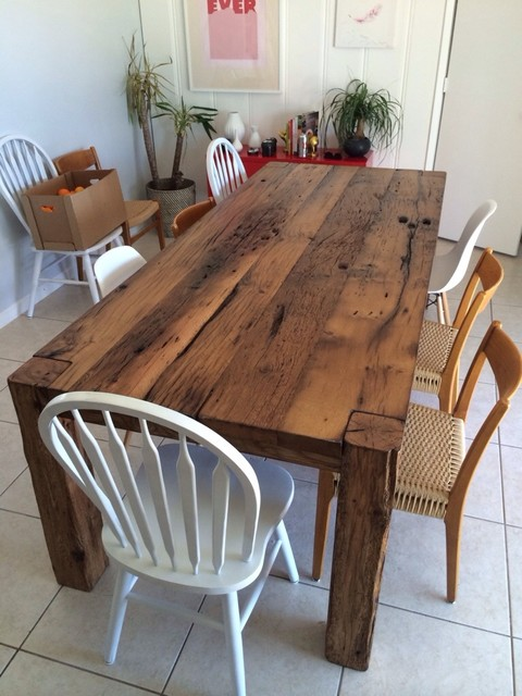 Dining Table White Oak Farmhouse Table Farmhouse
