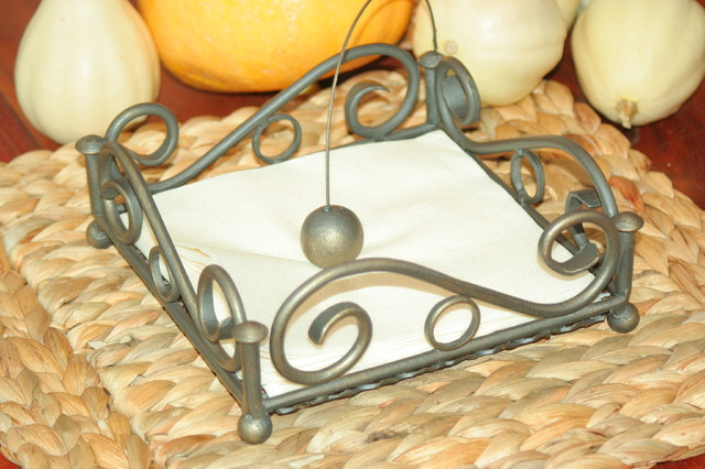 Napkin holders - hand forged steel napkin-rings