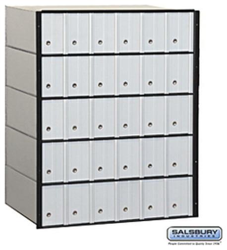 Aluminum Mailbox - 30 Doors - Standard System modern-mailboxes
