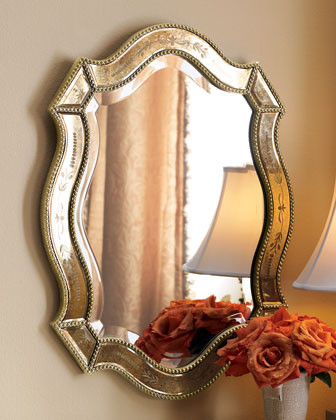 """""""Felicie"""" Oval Mirror traditional-mirrors"""