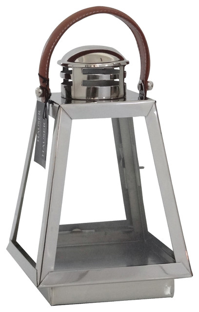 Hauser Yacht Lantern - Polished Nickel - Small transitional-outdoor-lighting