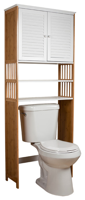 Over the Toilet Double Door Space Saver Cabinet contemporary-bathroom ...