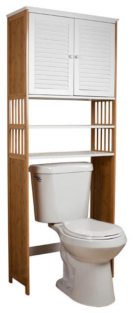 Over The Toilet Double Door Space Saver Cabinet