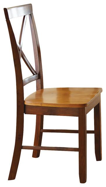 Steve Silver Kingston Side Chair in Oak [Set of 2] modern-dining-chairs