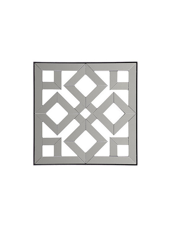 Fretwork Mirrored Plaque #2 by Z Gallerie - Mirrors are wonderful in the garden; hang this one in a protected spot.