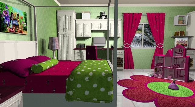 Bedrooms for Girls traditional-rendering