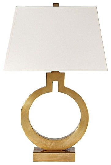 Brass Ring Table Lamp traditional-table-lamps