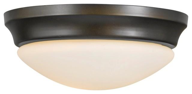 "Asian Barrington 14"" Diameter Bronze Flushmount Ceiling Fixture traditional-ceiling-lighting"