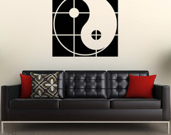 Artistic Yin Yang vinyl wall decal decals