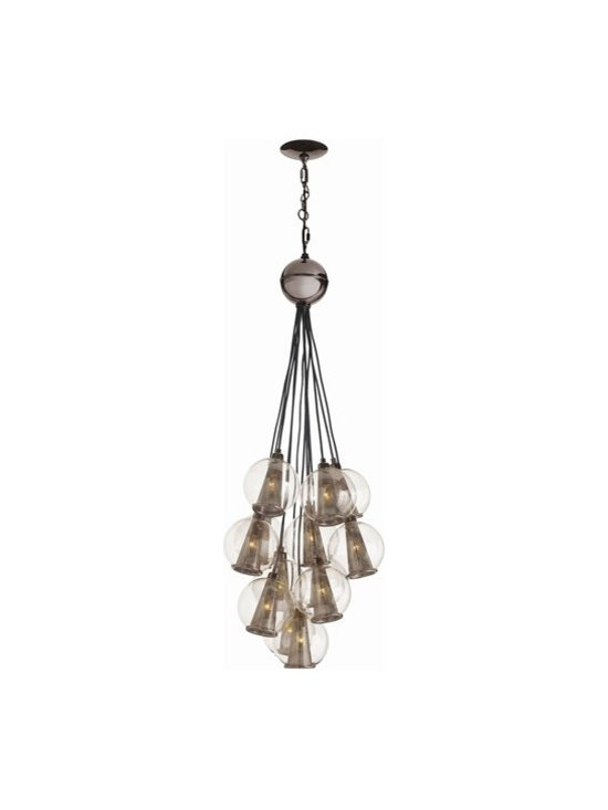 Arteriors Caviar Adj Sm Brown Nickel/Smoke Glass Cluster - Caviar Adj Sm Brown Nickel/Smoke Glass Cluster