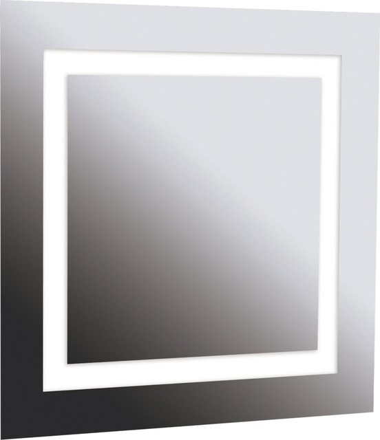 Destiny 28quot; Square 4Light Vanity Mirror contemporarybathroommirrors