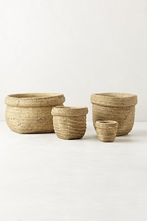 Basket-Weave Garden Pot traditional-outdoor-pots-and-planters