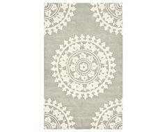 Handmade Soho Chrono Grey/Ivory New Zealand Wool Rug mediterranean-rugs