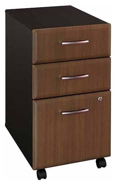 Three Drawer File Cabinet w Casters and Lock - Contemporary - Filing Cabinets - by ivgStores