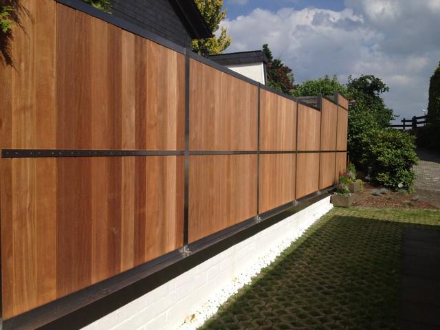 Garage door decorations - Fence Contemporary Other Metro By Hoge Die Manufaktur