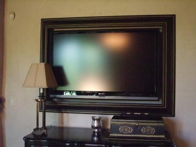 flat screen tv frames traditional