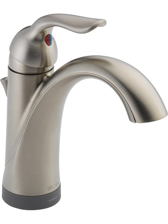 Delta Bathroom Faucet - Delta 15938T-SS-DST Lahara Single Handle Bathroom Faucet with Touch2O® and Diamond Seal Technology in Stainless