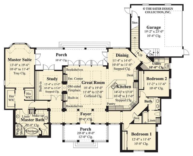 Sater Design Collection 39 S 7065 Lexington Home Plan