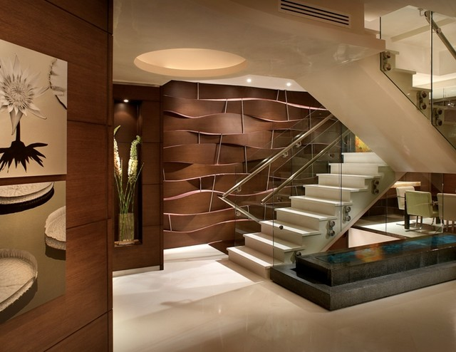 modern staircase by Pepe Calderin Design- Miami Modern Interior Design