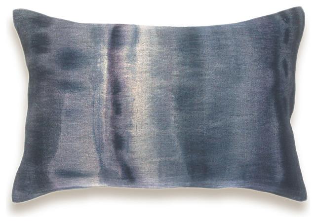 Indigo Blue Charcoal Purple Beige Decorative Lumbar Pillow Cover 12x18